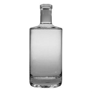 Jersey Design Glass Spirit Bottle 750ml