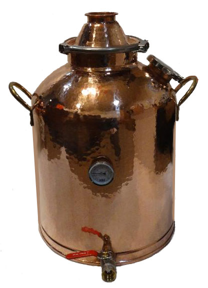 16 Gallon Copper Boiler with 3 Inch Copper Domed Top Lid