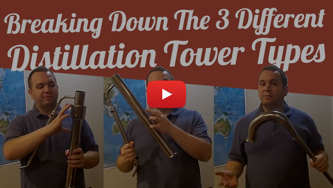 3 Different Distillation Tower Types Youtube Video